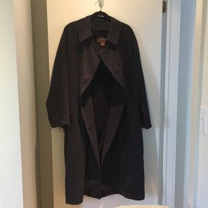 Men's Trench Coat with Removable Wool Liner